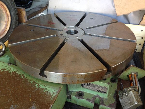 CNC rotary table Fibroplan 630mm 1