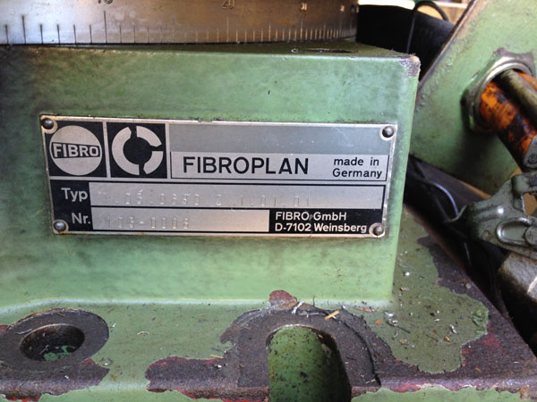 CNC rotary table Fibroplan 630mm 2